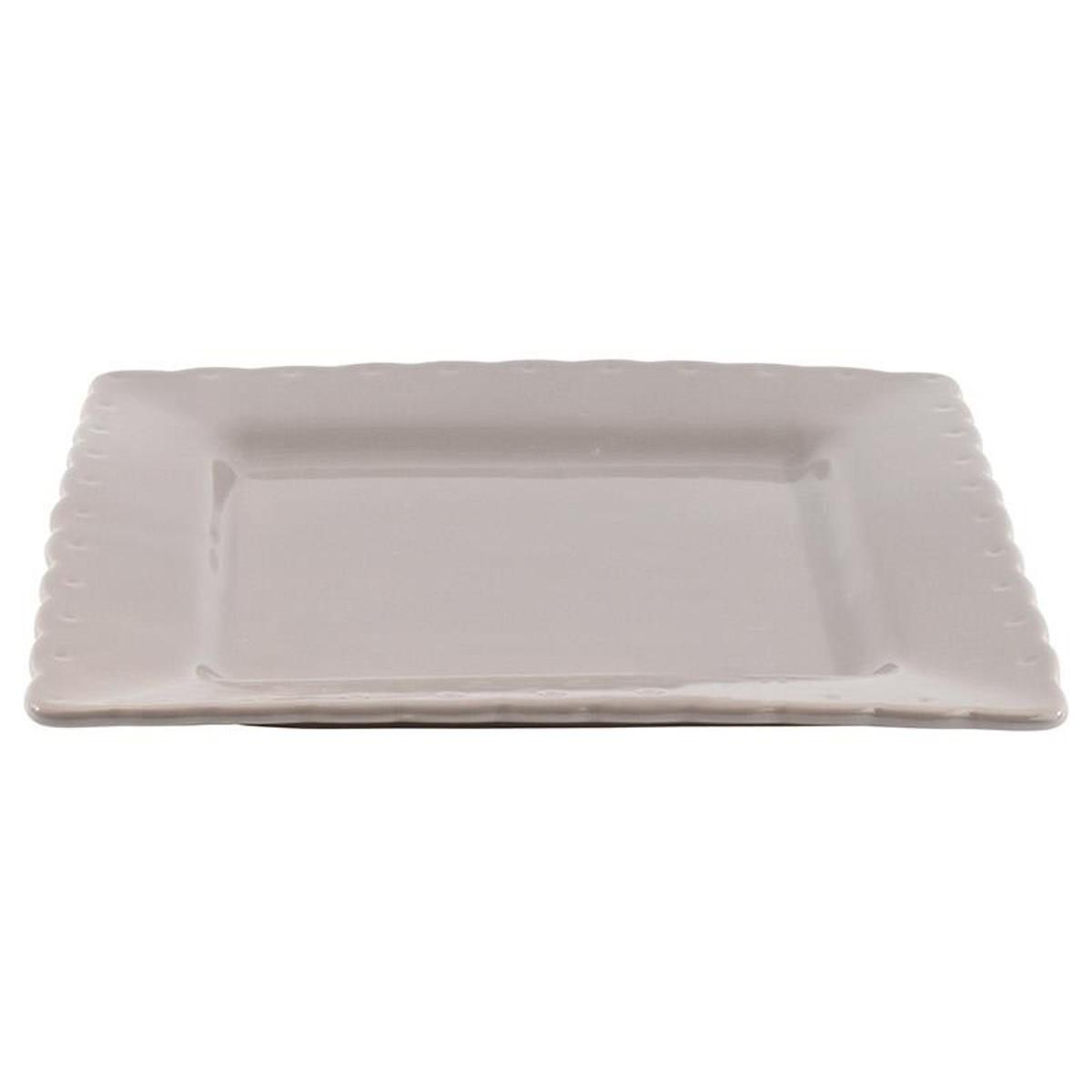 Πιάτα Φαγητού (Σετ 6τμχ) InArt Piedra Grey 3-60-520-0009
