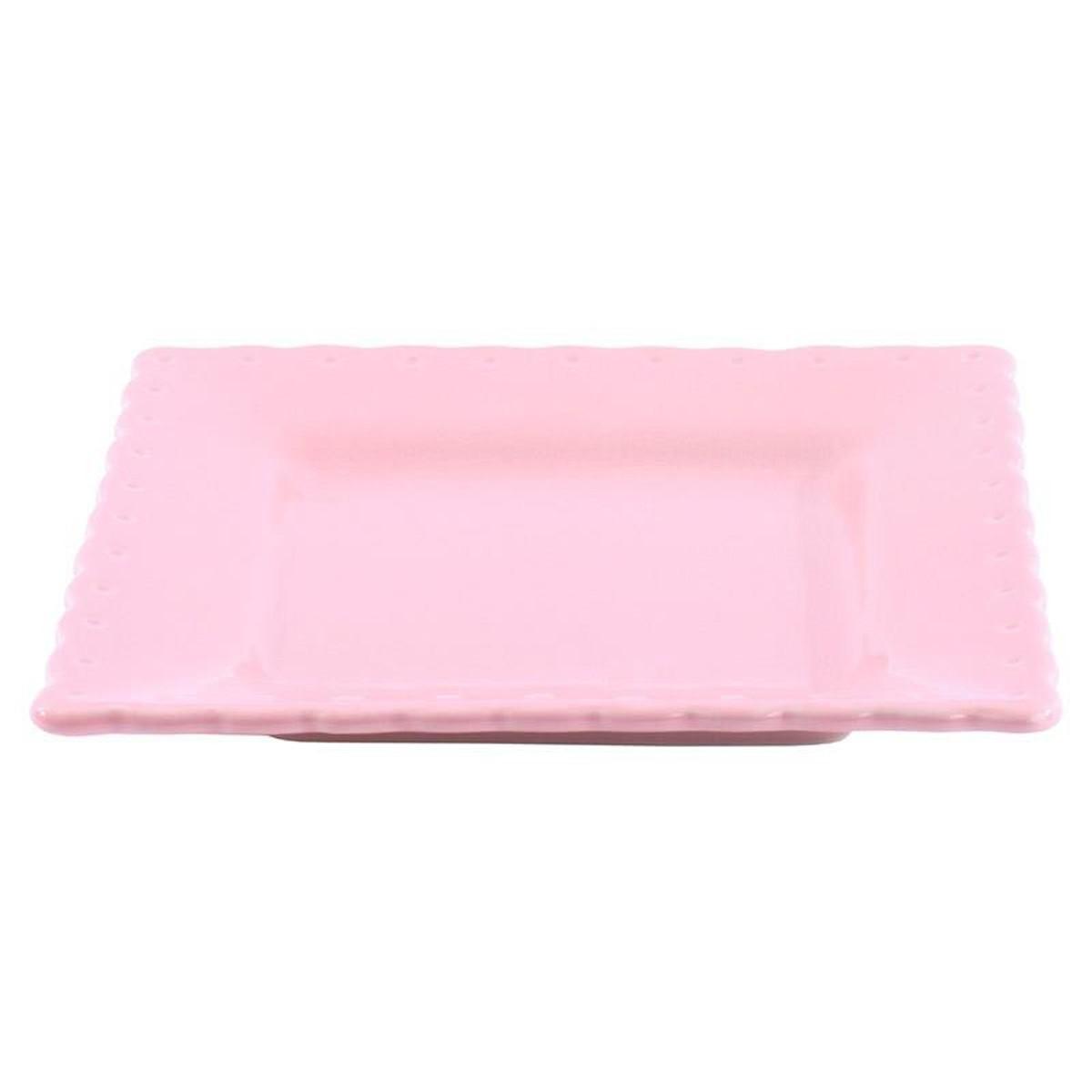 Πιάτα Φαγητού (Σετ 6τμχ) InArt Piedra Pink 3-60-520-0011