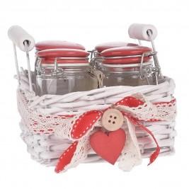 Βάζα Κουζίνας (Σετ 4τμχ) InArt Gigi 3-60-369-0023