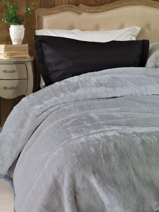 Κουβέρτα Βελουτέ Υπέρδιπλη Palamaiki Chic Velvet Grey