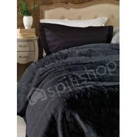 Κουβέρτα Βελουτέ Μονή Palamaiki Chic Velvet Anthracite