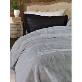 Κουβέρτα Βελουτέ Μονή Palamaiki Chic Velvet Grey