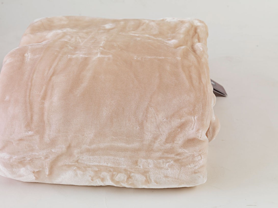 Κουβέρτα Βελουτέ Μονή Palamaiki Dream Velour Sand