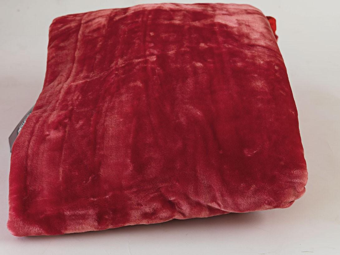 Κουβέρτα Βελουτέ Μονή Palamaiki Dream Velour Red