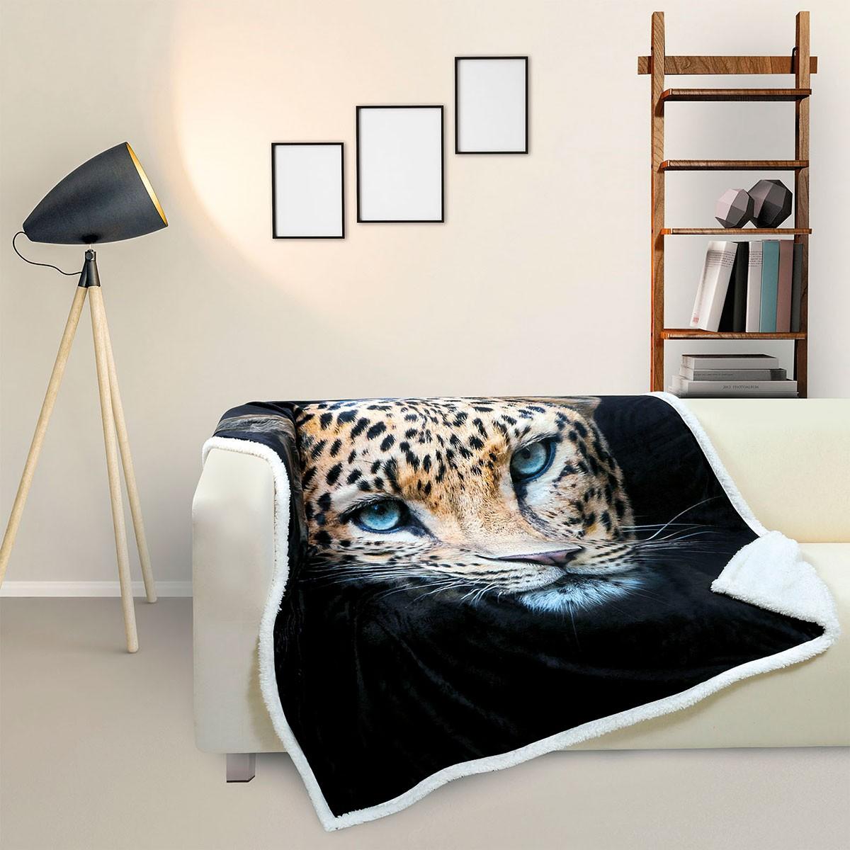 Κουβέρτα Καναπέ Fleece Με Γουνάκι Das Home Digital 368