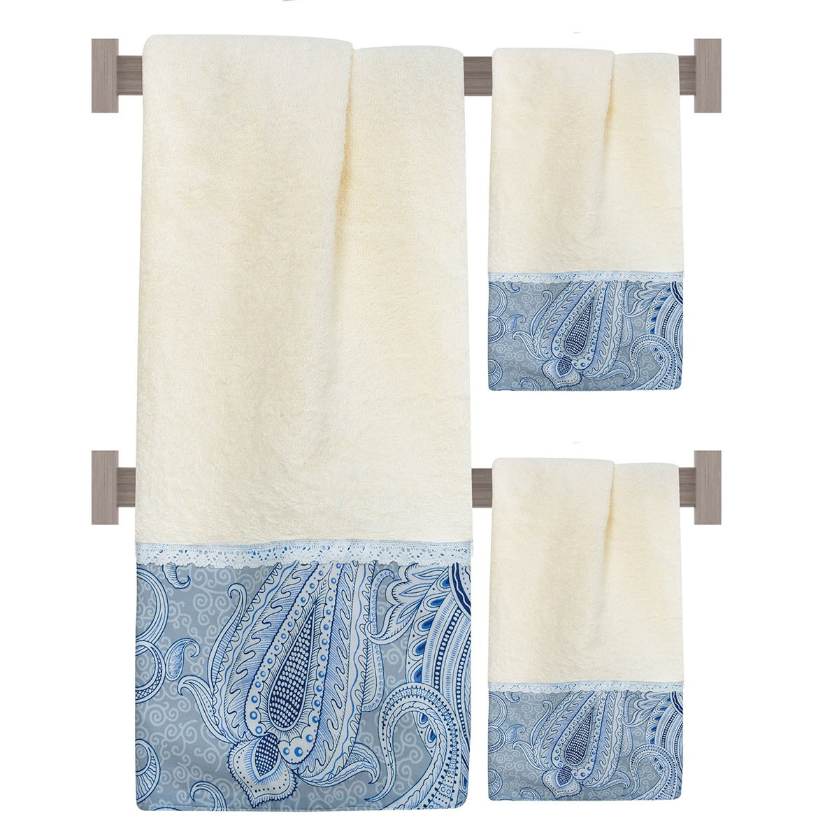 Πετσέτες Μπάνιου (Σετ 3τμχ) Das Home Prestige 284