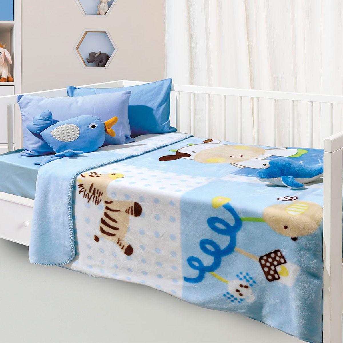 Κουβέρτα Βελουτέ Κούνιας Das Home Relax Line 6350
