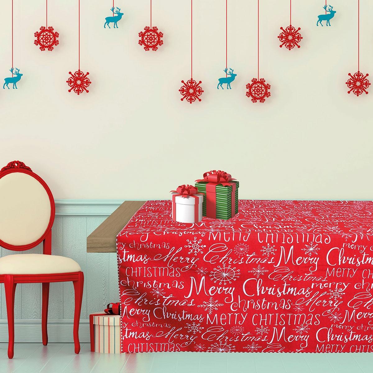 Χριστουγεννιάτικο Τραπεζομάντηλο (140×140) Das Home Kitchen 533