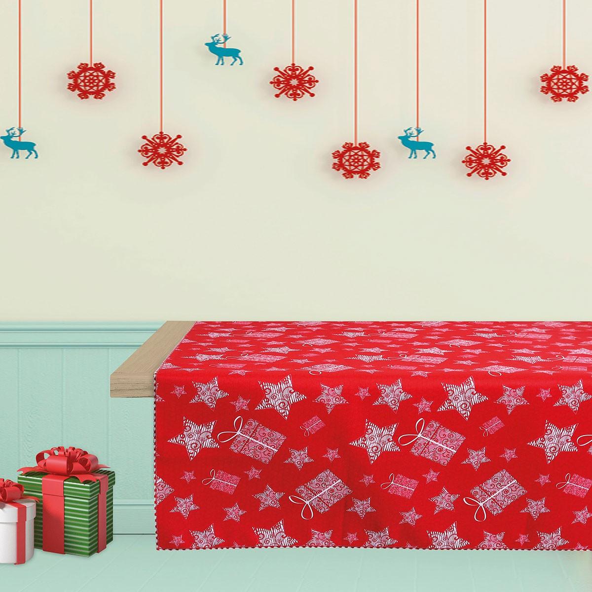 Χριστουγεννιάτικο Τραπεζομάντηλο (140×140) Das Home Kitchen 534