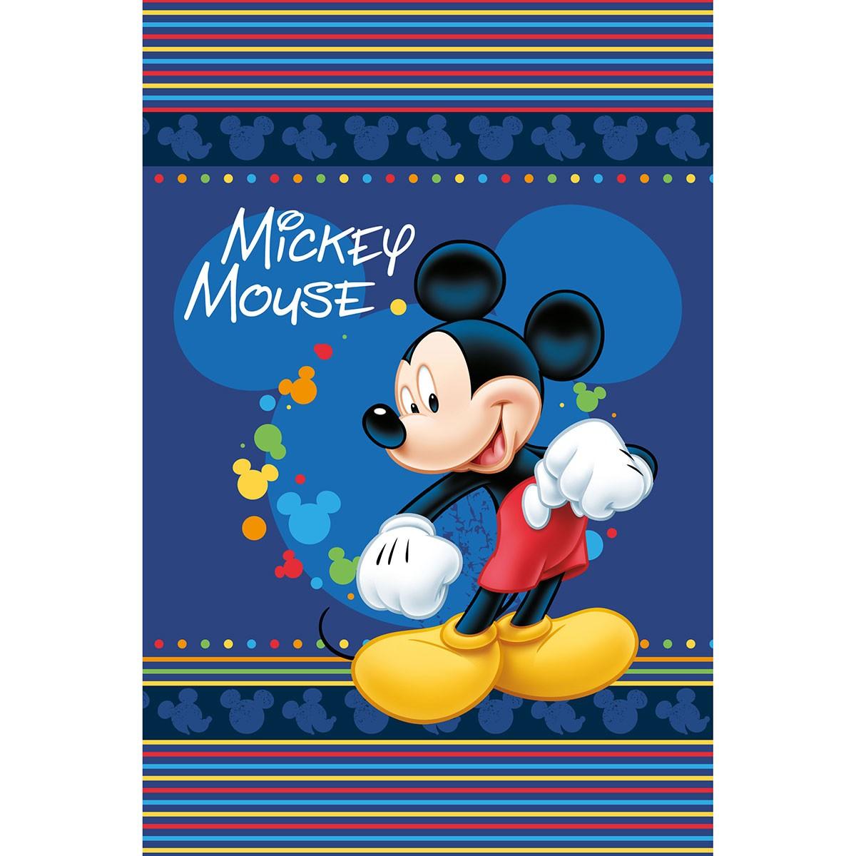 Κουβέρτα Βελουτέ Μονή Limneos Disney Mickey