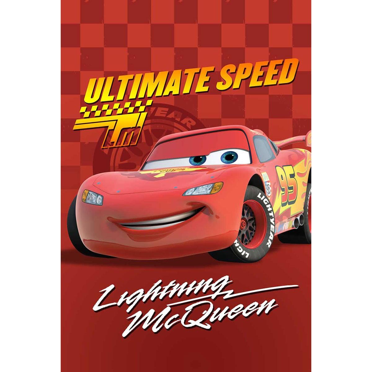 Κουβέρτα Βελουτέ Μονή Limneos Disney Cars