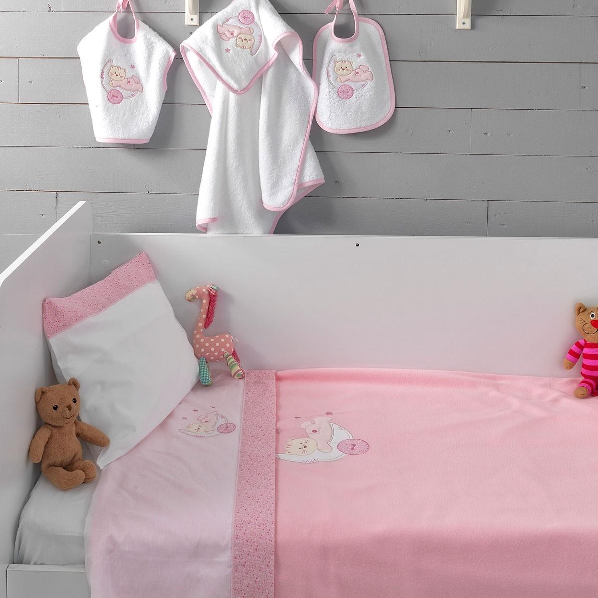 Σεντόνια Κούνιας (Σετ) Palamaiki Baby Joia BJ449 Pink