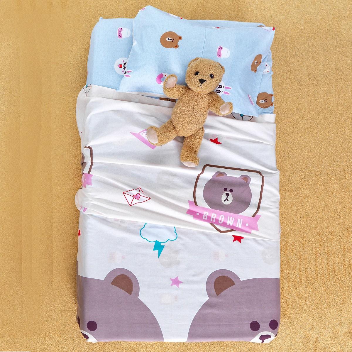 Σεντόνια Κούνιας (Σετ) Palamaiki Baby Satin BS7009