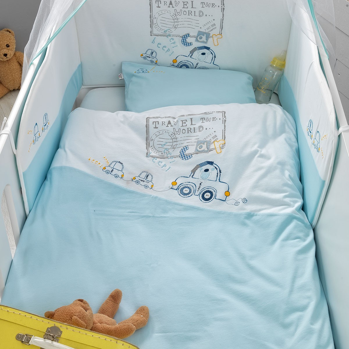 Σετ Κούνιας 5τμχ Palamaiki Baby Comfort Travel Bear
