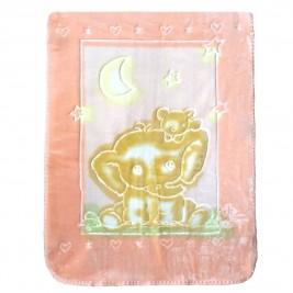 Κουβέρτα Βελουτέ Αγκαλιάς Palamaiki Bear Pink