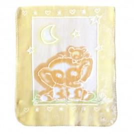 Κουβέρτα Βελουτέ Αγκαλιάς Palamaiki Bear Yellow