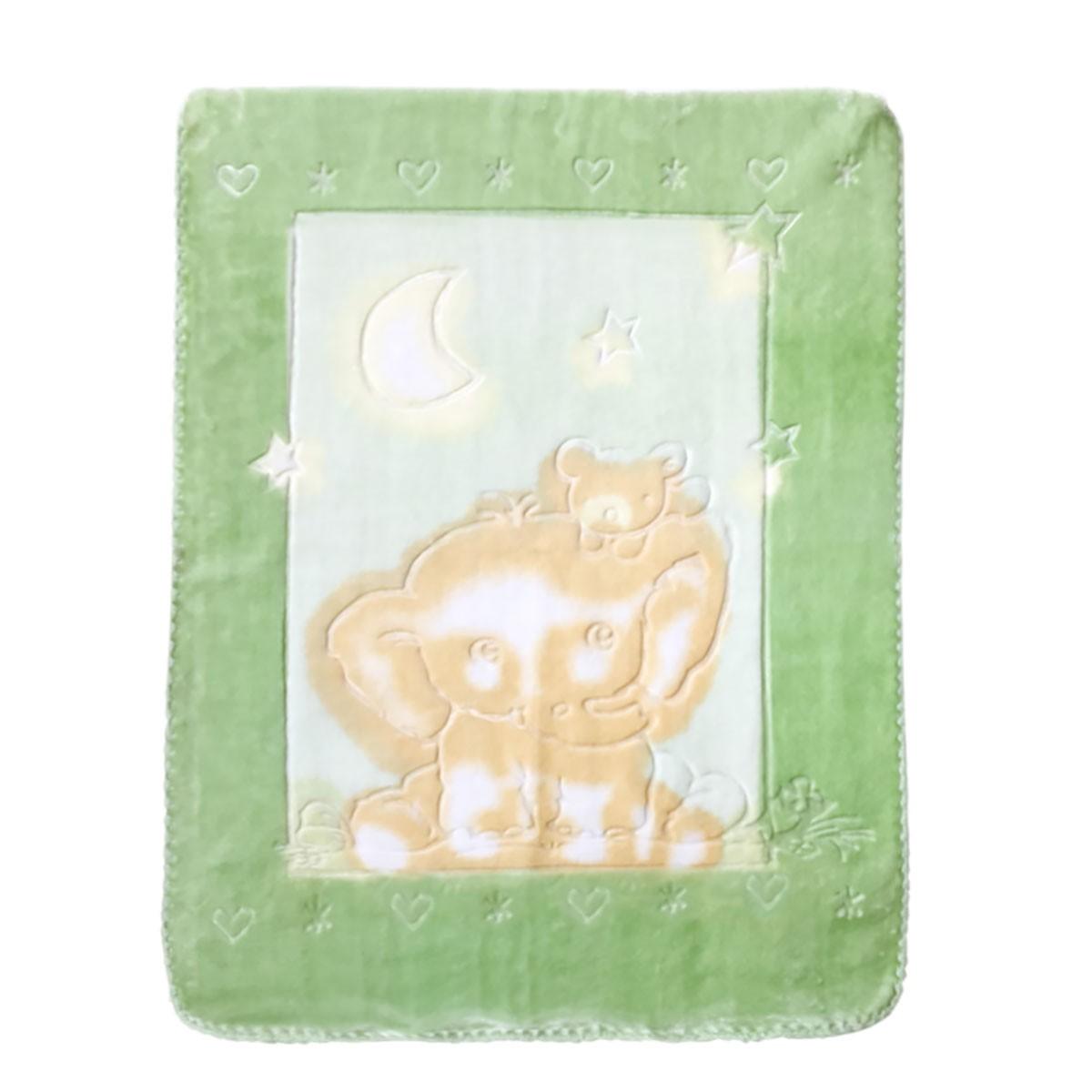 Κουβέρτα Βελουτέ Αγκαλιάς Palamaiki Bear Green