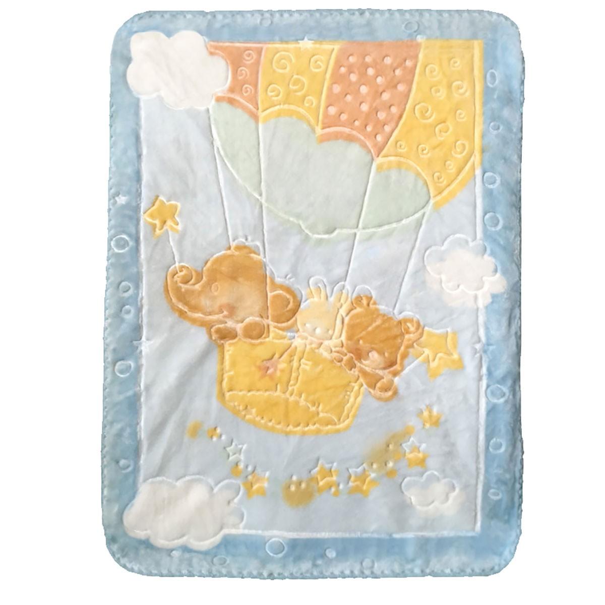 Κουβέρτα Βελουτέ Αγκαλιάς Palamaiki Parachute Blue
