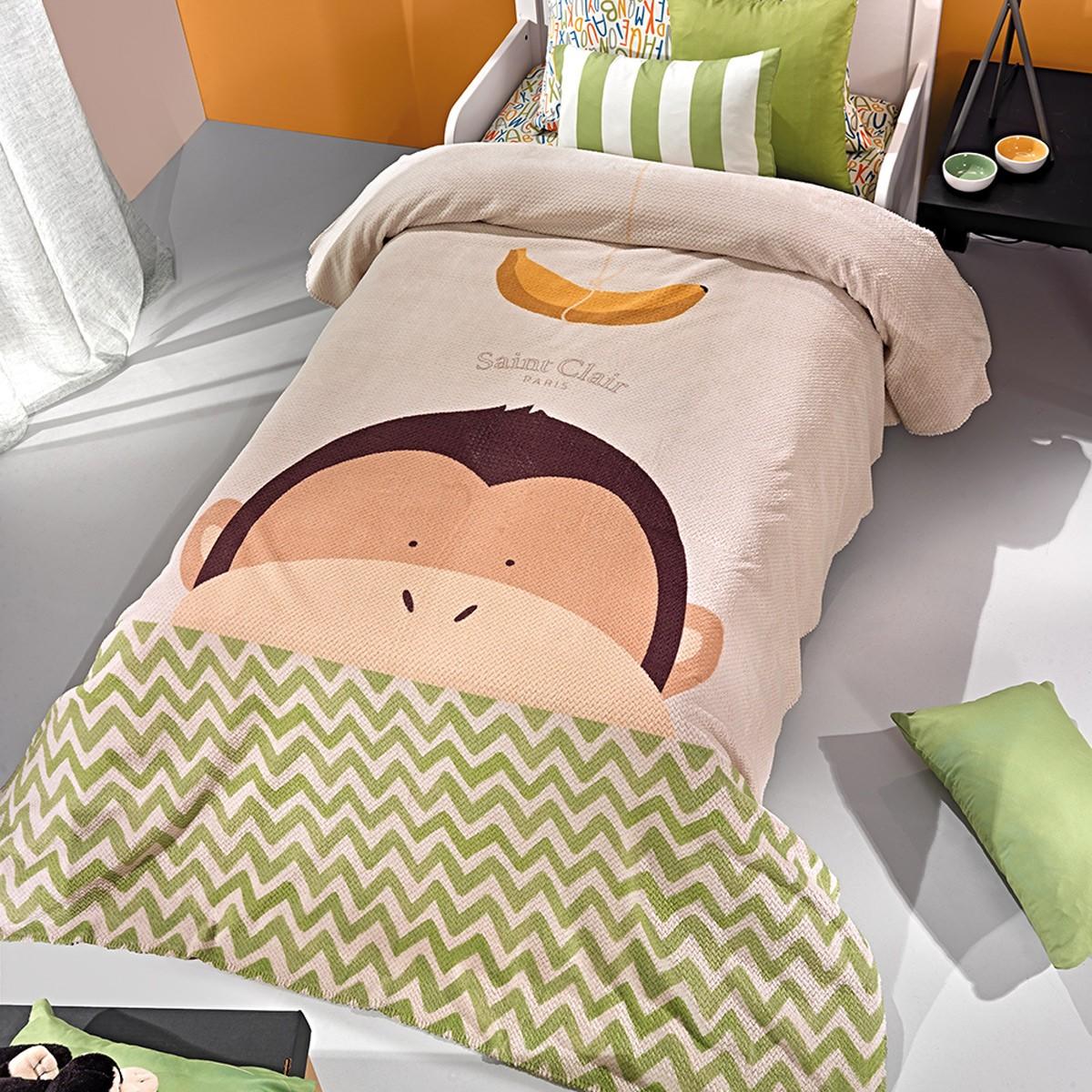 Κουβέρτα Fleece Μονή Saint Clair Ultra Soft Banana
