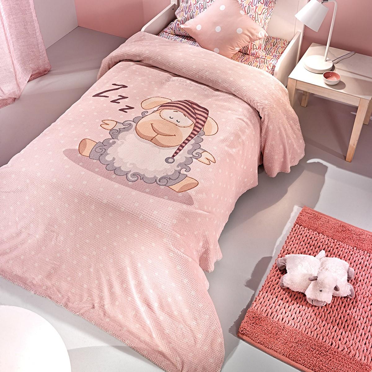 Κουβέρτα Μονή Fleece Saint Clair Ultra Soft Shaggy Pink
