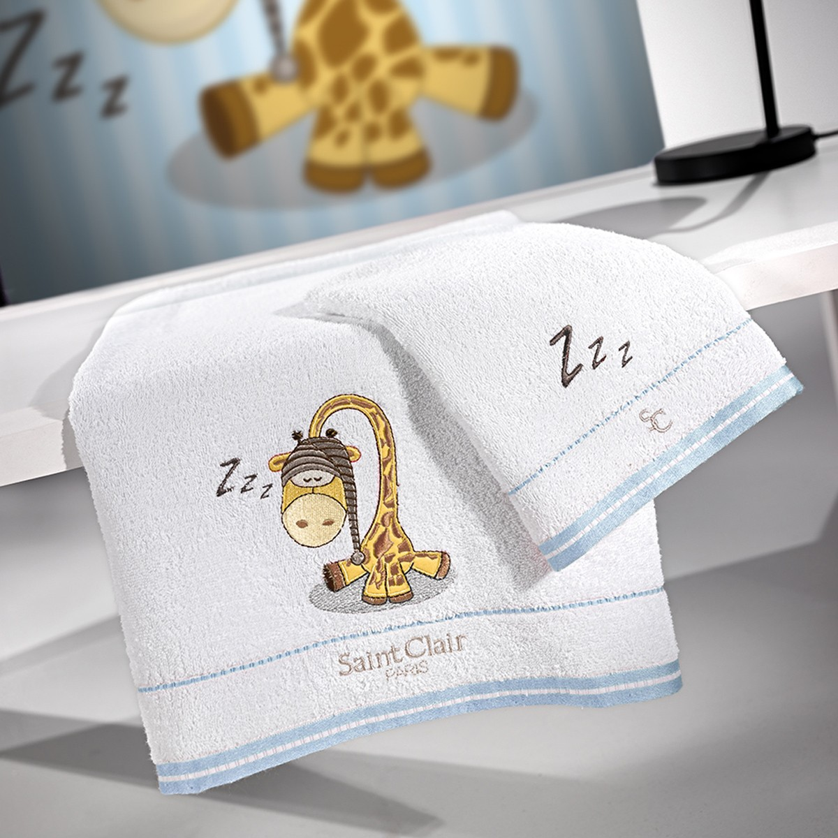 Παιδικές Πετσέτες (Σετ 2τμχ) Saint Clair Sleepy Blue