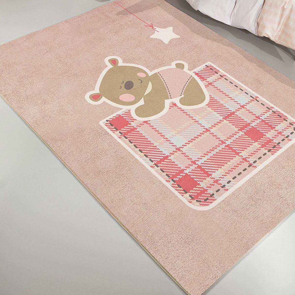 Παιδικό Χαλί (115x175) Saint Clair Teddy Pink home   χαλιά   χαλιά παιδικά