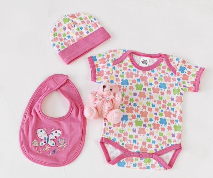 Βρεφικά Ρουχαλάκια (Σετ) Palamaiki New Baby 0105 Pink home   βρεφικά   βρεφικά ρουχαλάκια