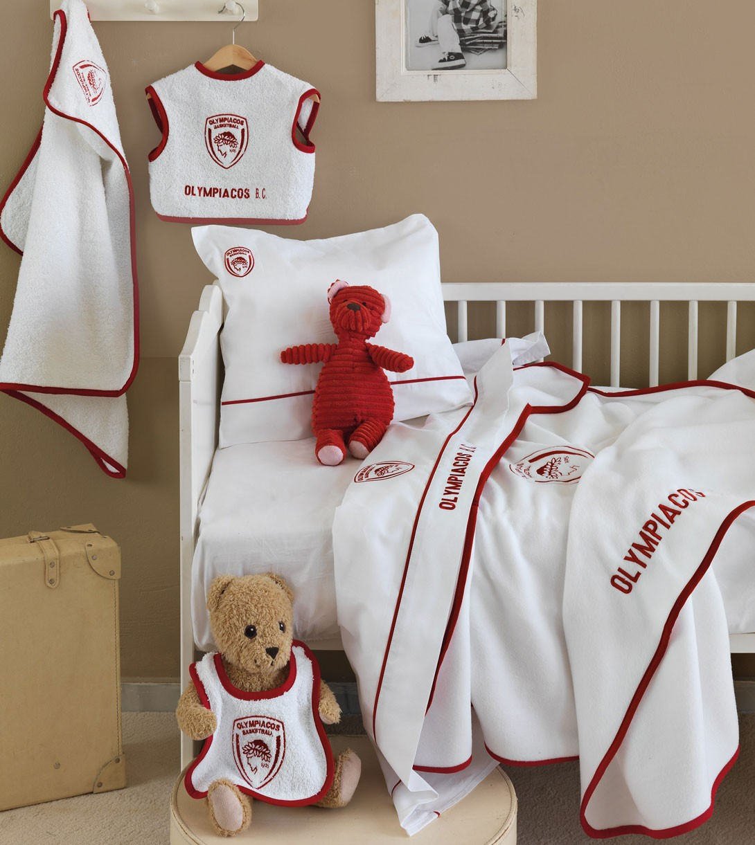 Κουβέρτα Fleece Κούνιας Palamaiki Baby Team Olympiacos