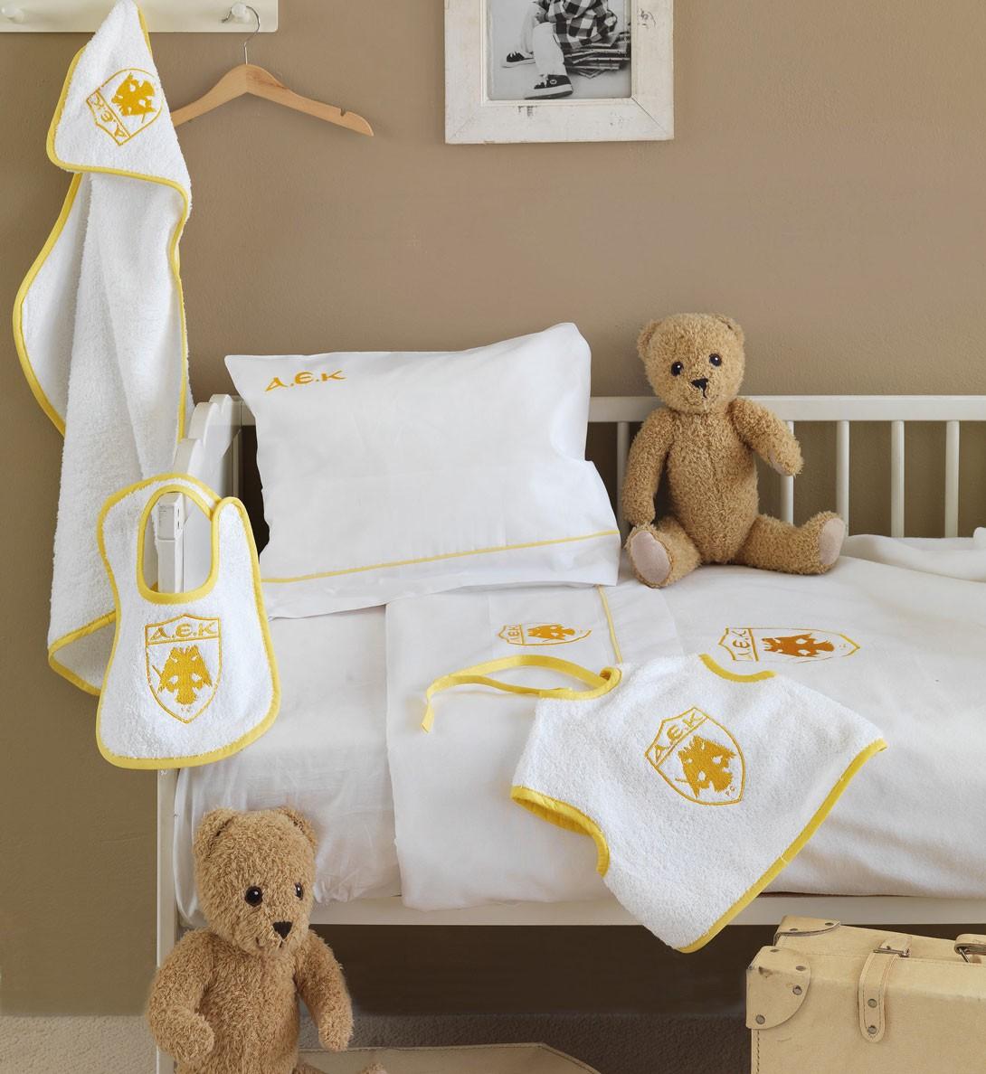 Κουβέρτα Fleece Κούνιας Palamaiki Baby Team AEK