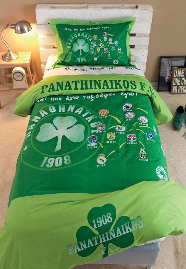 Πάπλωμα Μονό (Σετ) Palamaiki Panathinaikos FC3