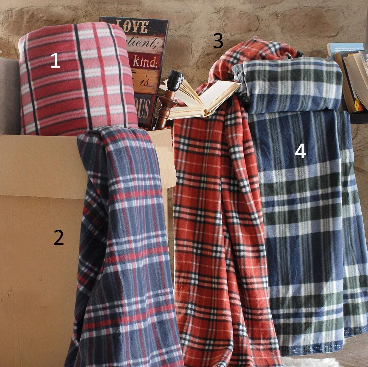 Κουβέρτα Fleece Μονή Rythmos Polar Square