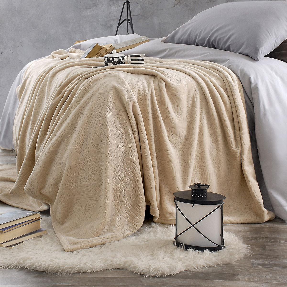 Κουβέρτα Fleece Υπέρδιπλη Rythmos Sonic