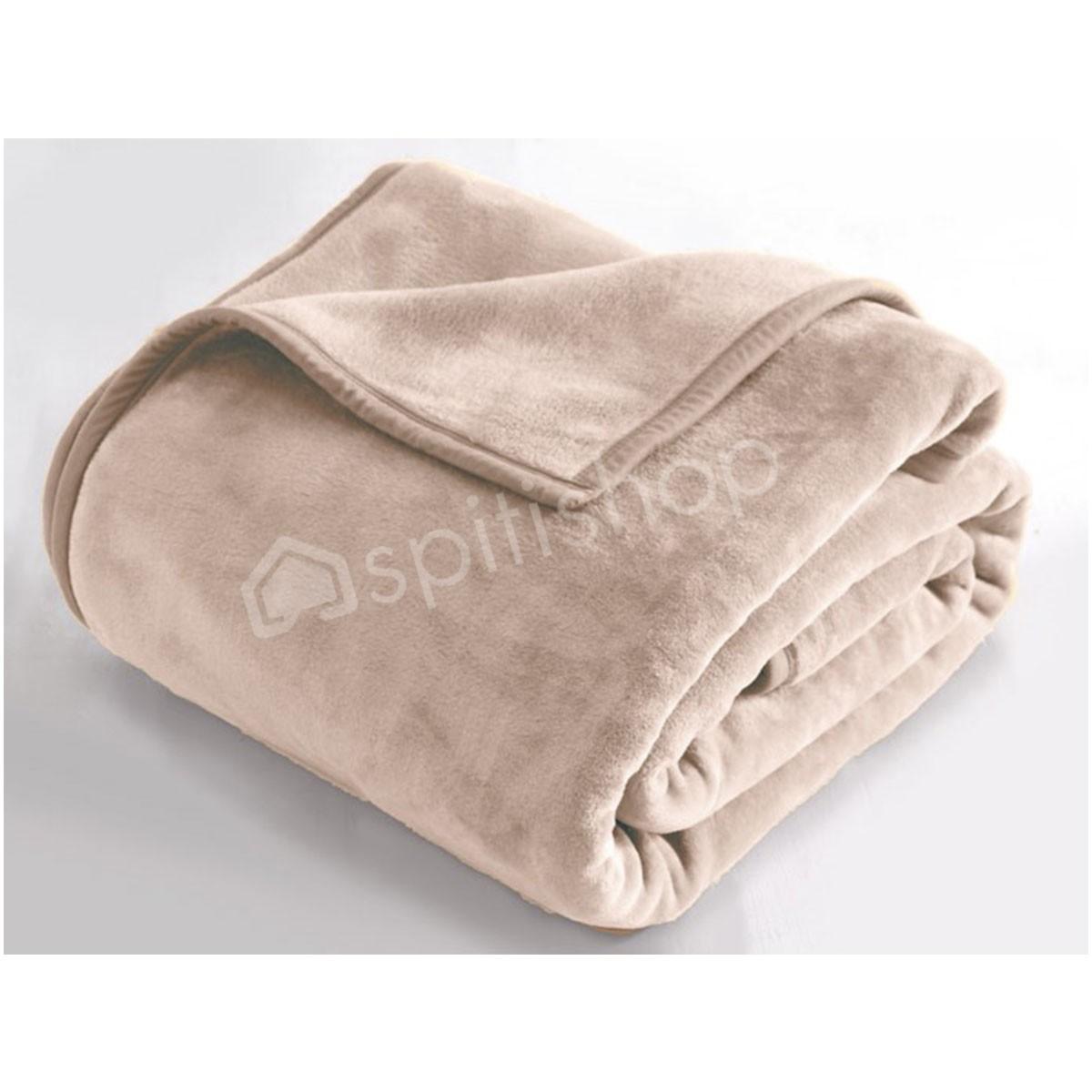 Κουβέρτα Βελουτέ Μονή Rythmos Charlize 06 L.Grey