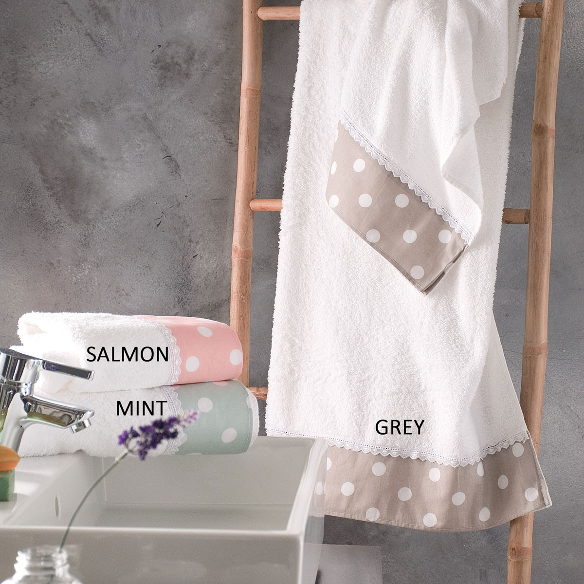 Πετσέτες Μπάνιου (Σετ 3τμχ) Rythmos Bathroom Soft home   μπάνιο   πετσέτες μπάνιου