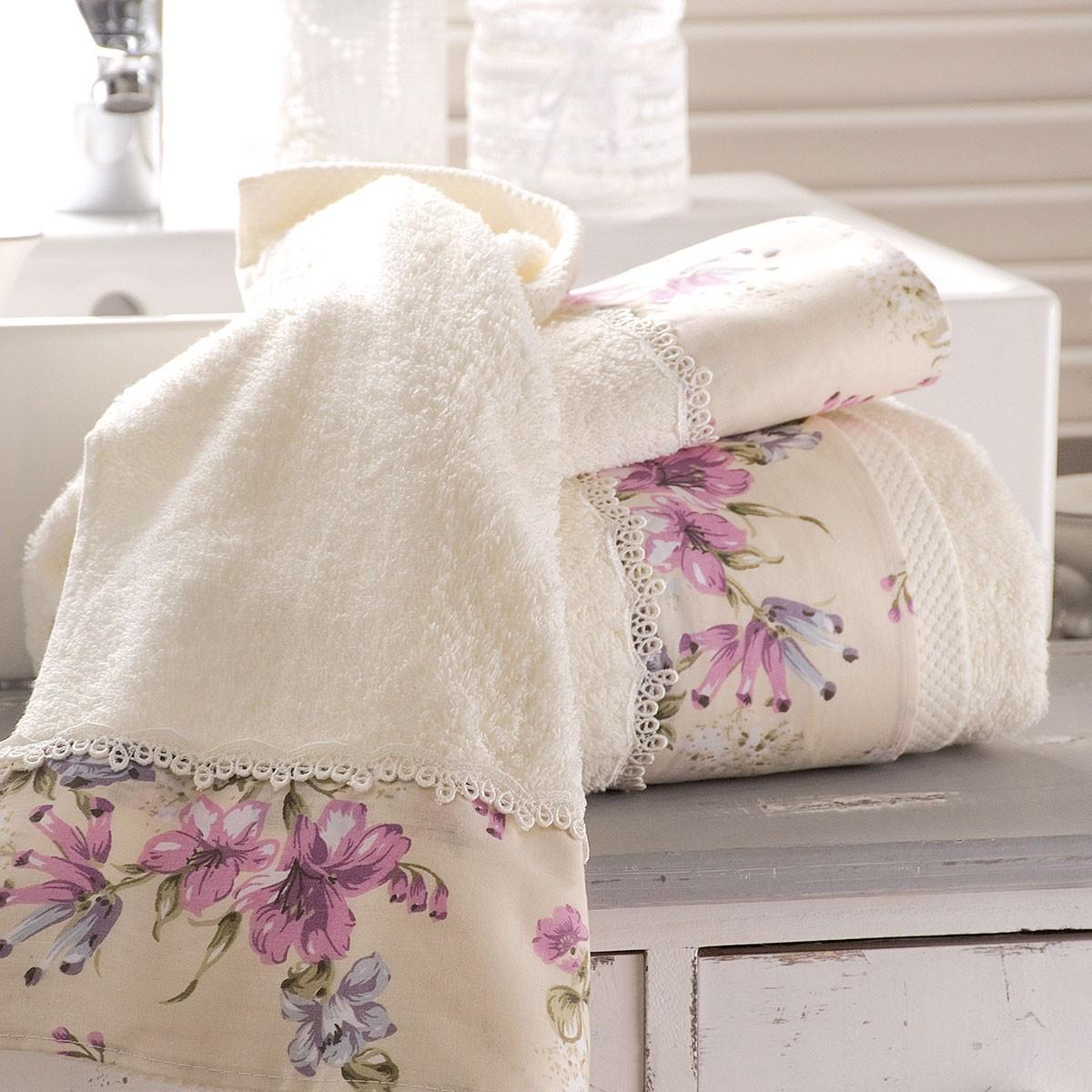 Πετσέτες Μπάνιου (Σετ 3τμχ) Rythmos Bathroom Country