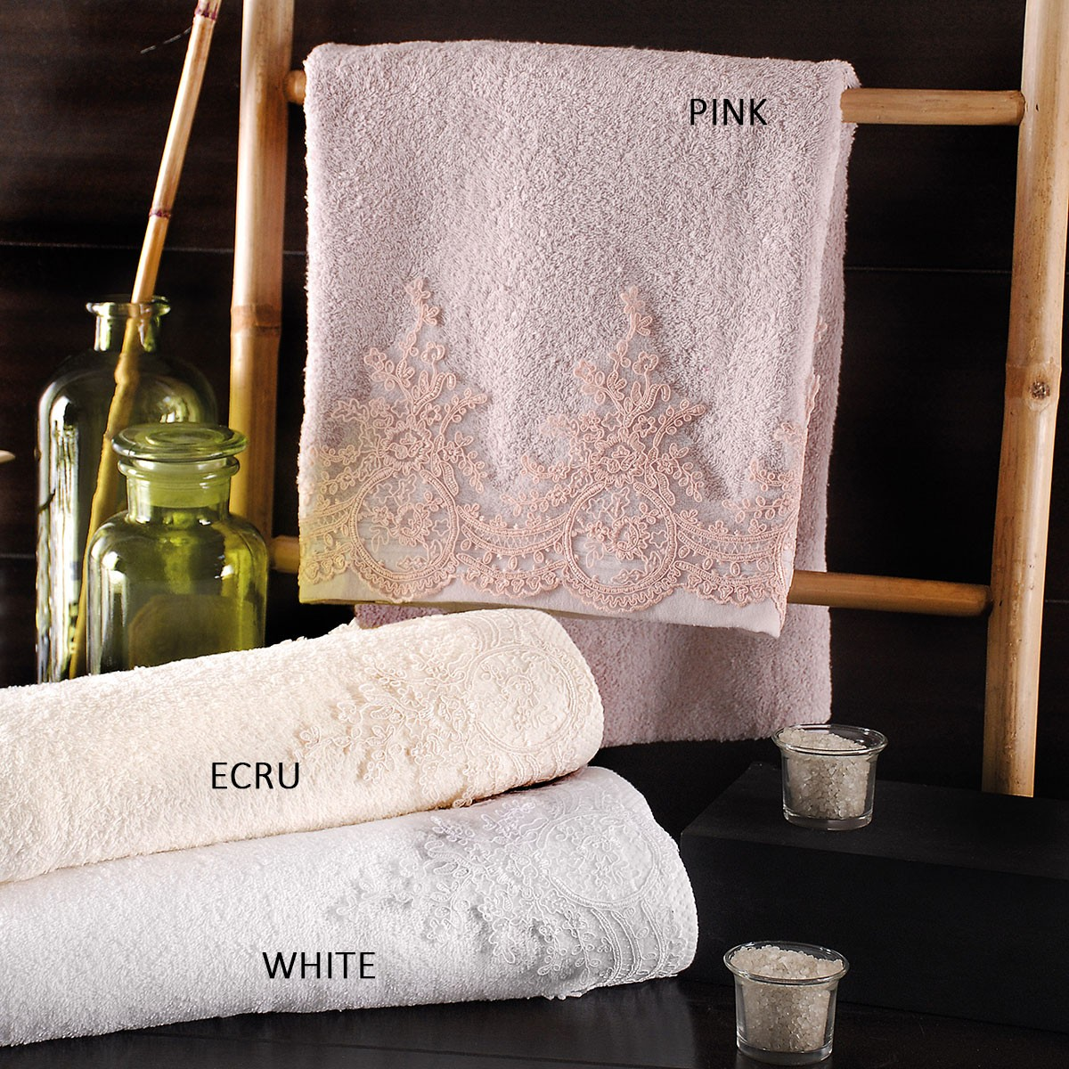 Πετσέτες Μπάνιου (Σετ 3τμχ) Rythmos Bathroom Rachel home   μπάνιο   πετσέτες μπάνιου