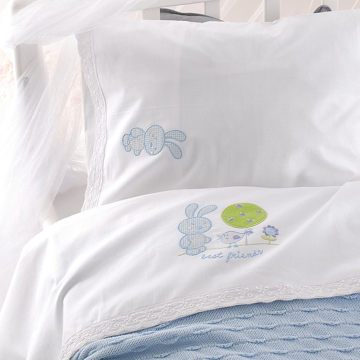 Κουβέρτα Πικέ Κούνιας Rythmos Sweet Summer Ciel home   βρεφικά   κουβέρτες βρεφικές   κουβέρτες καλοκαιρινές