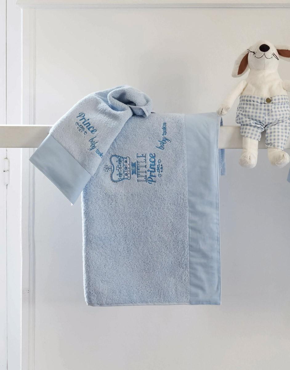 Βρεφικές Πετσέτες (Σετ 2τμχ) Makis Tselios Crown Blue