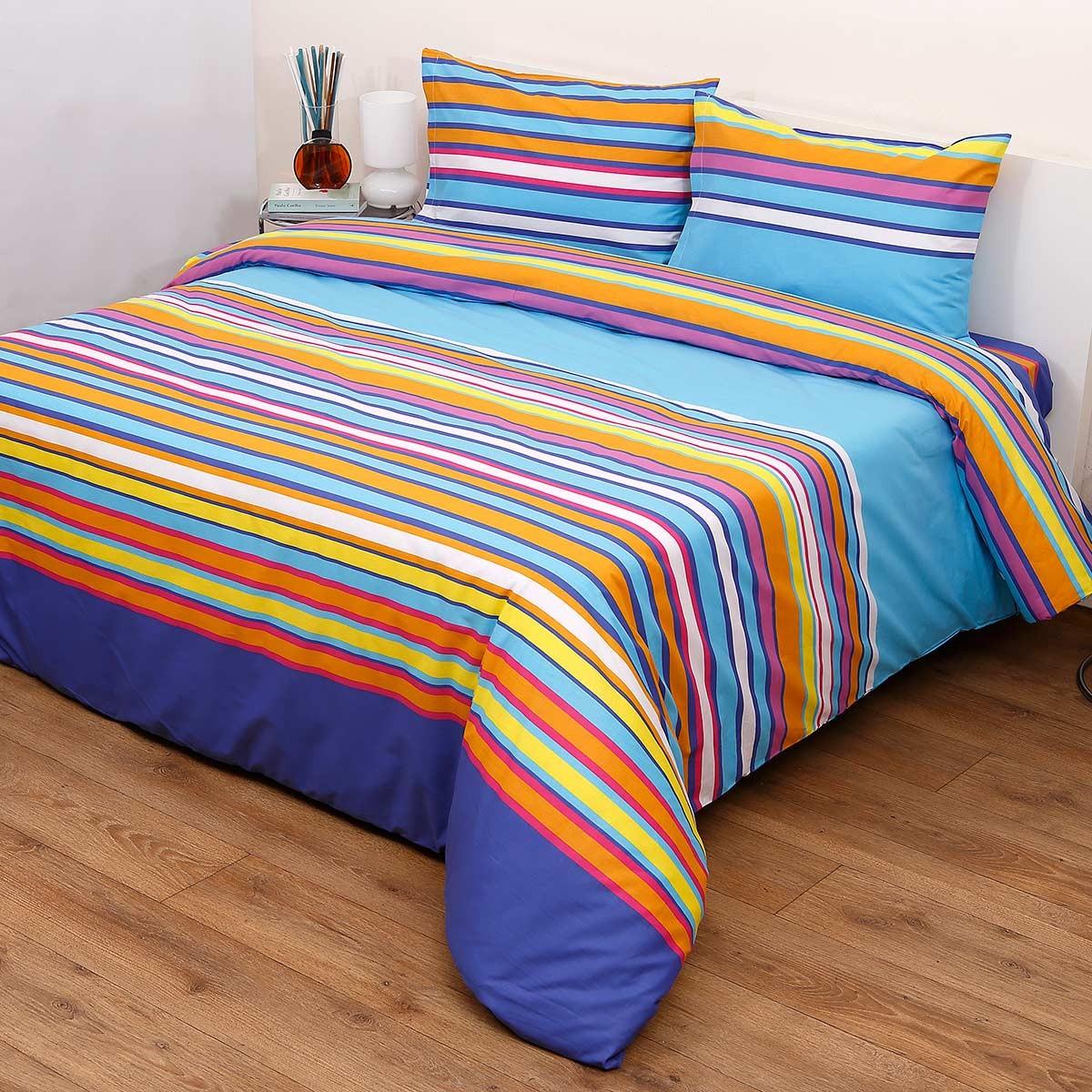 Πάπλωμα Ημίδιπλο (Σετ) Viopros Fresh Κέλι Μπλε home   κρεβατοκάμαρα   παπλώματα   παπλώματα ημίδιπλα   διπλά