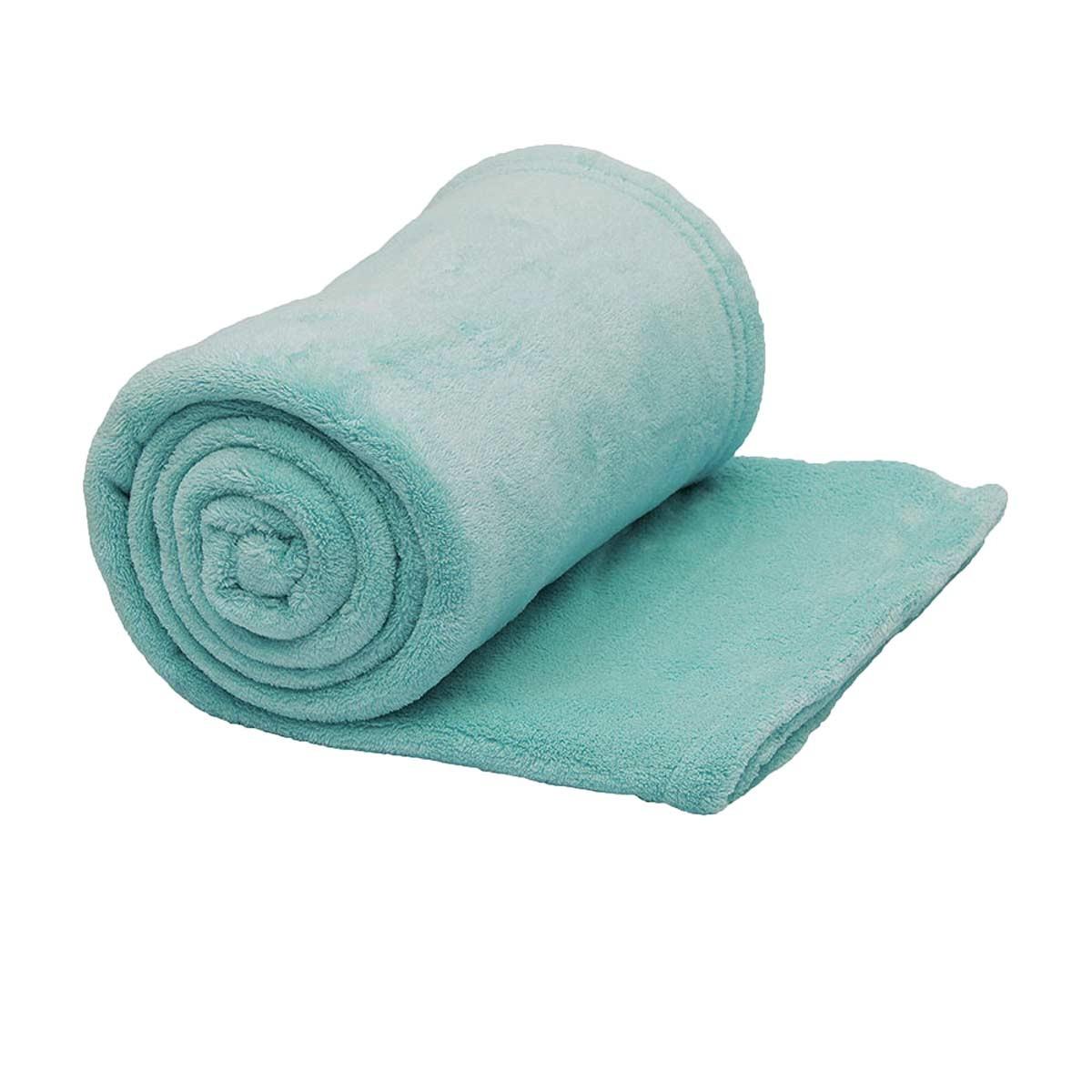 Κουβέρτα Fleece Μονή Viopros Πετρόλ 60898