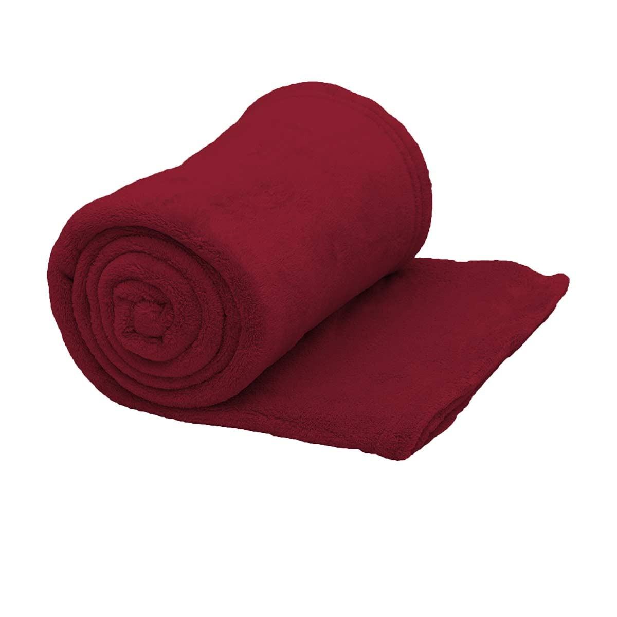 Κουβέρτα Fleece Υπέρδιπλη Viopros Μπορντώ