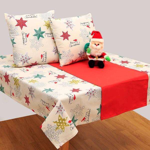 Χριστουγεννιάτικο Μαξιλάρι Viopros 4430 Εκρού