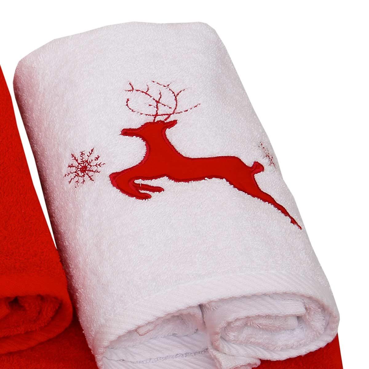Χριστουγεννιάτικη Πετσέτα (50x90) Viopros 2303 home   χριστουγεννιάτικα   χριστουγεννιάτικα είδη μπάνιου