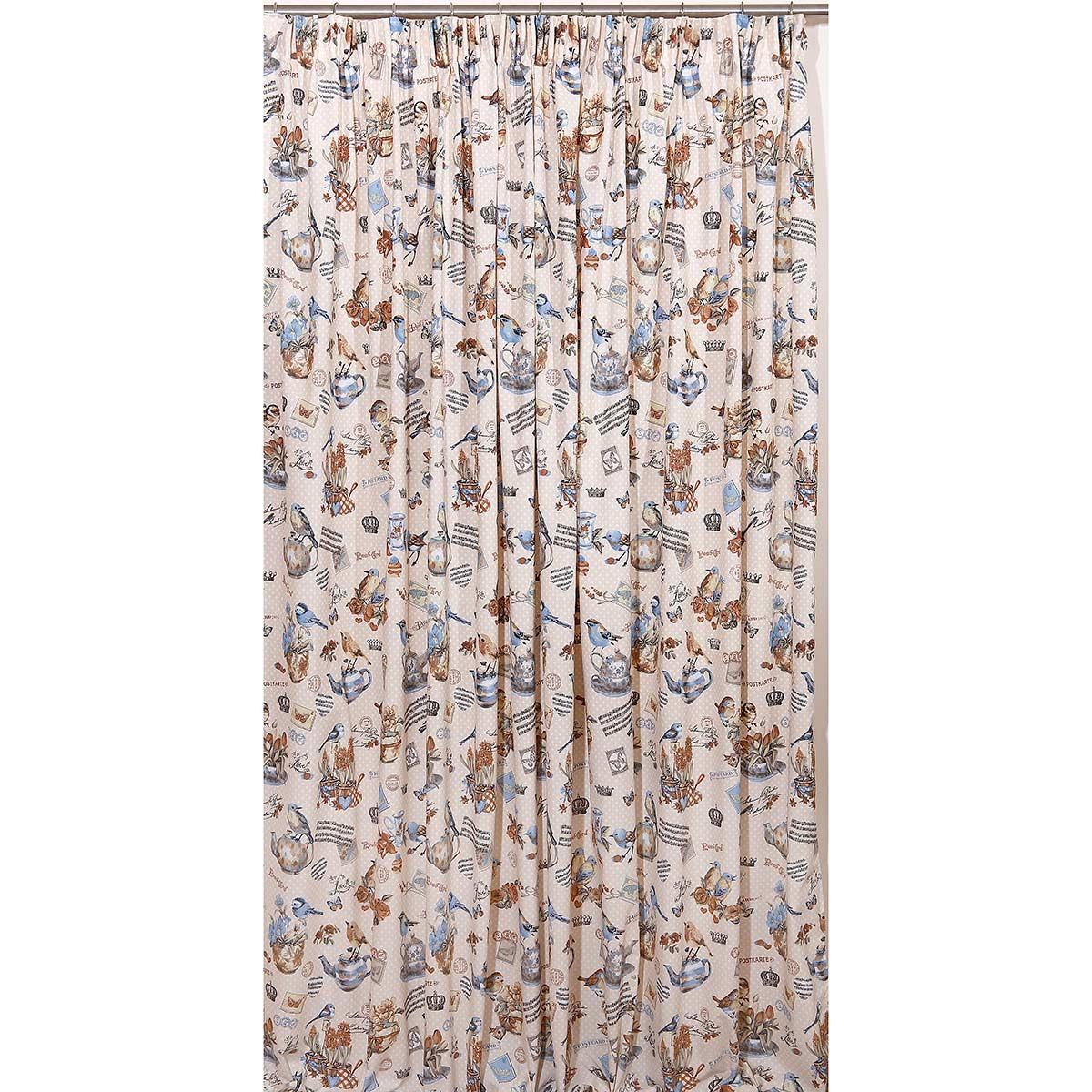 Κουρτίνα Με Τρέσα (280x270) Viopros Curtains Τοπάζ