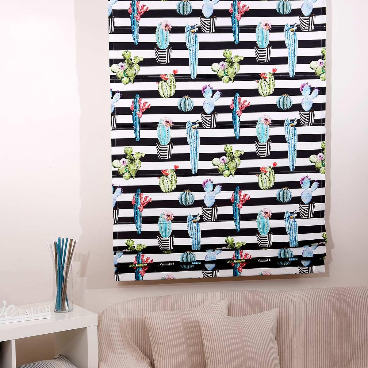 Κουρτίνα Με Τρέσα (280x270) Viopros Curtains Κάκτοι