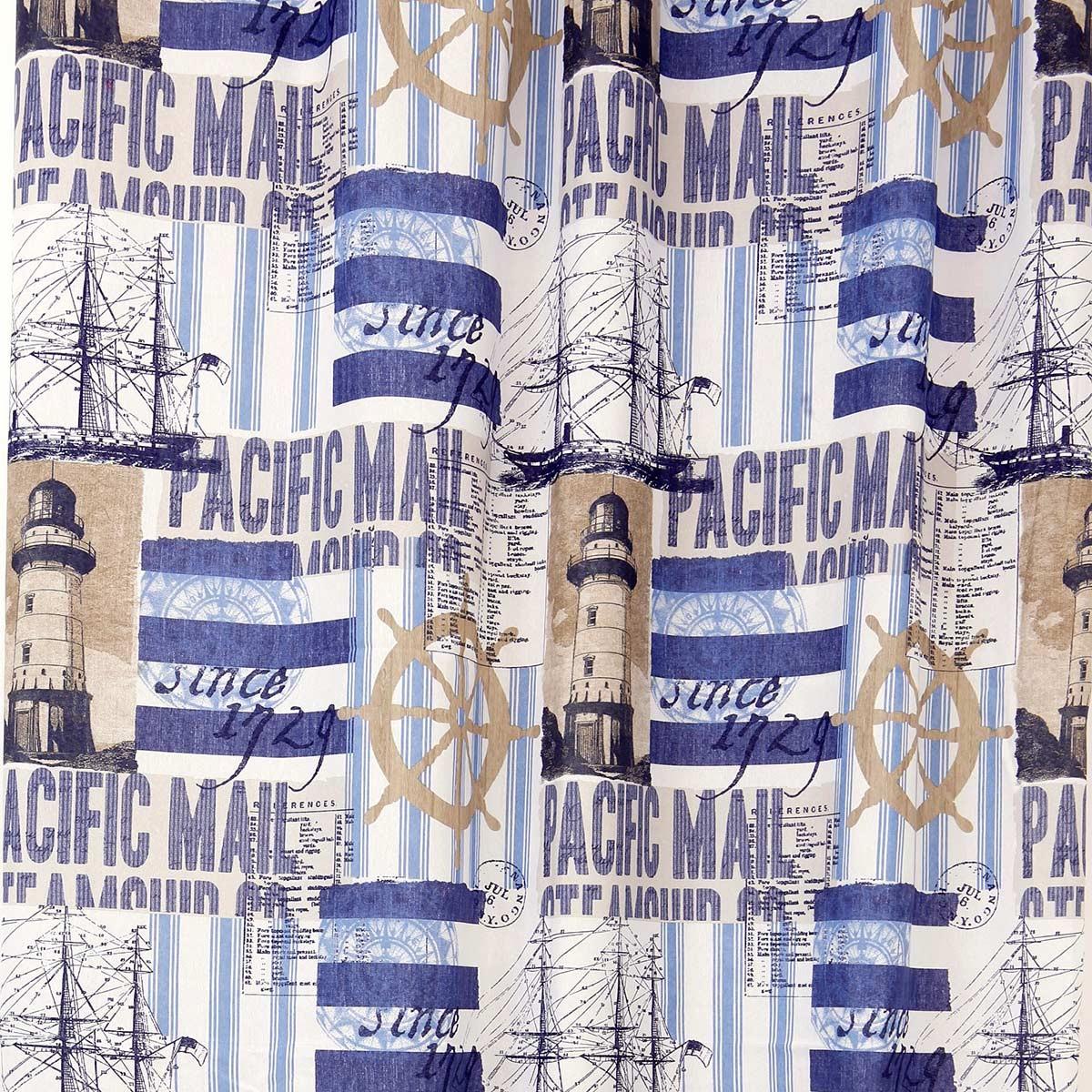 Κουρτίνα (160x270) Με Τρέσα Viopros Curtains Φάρος