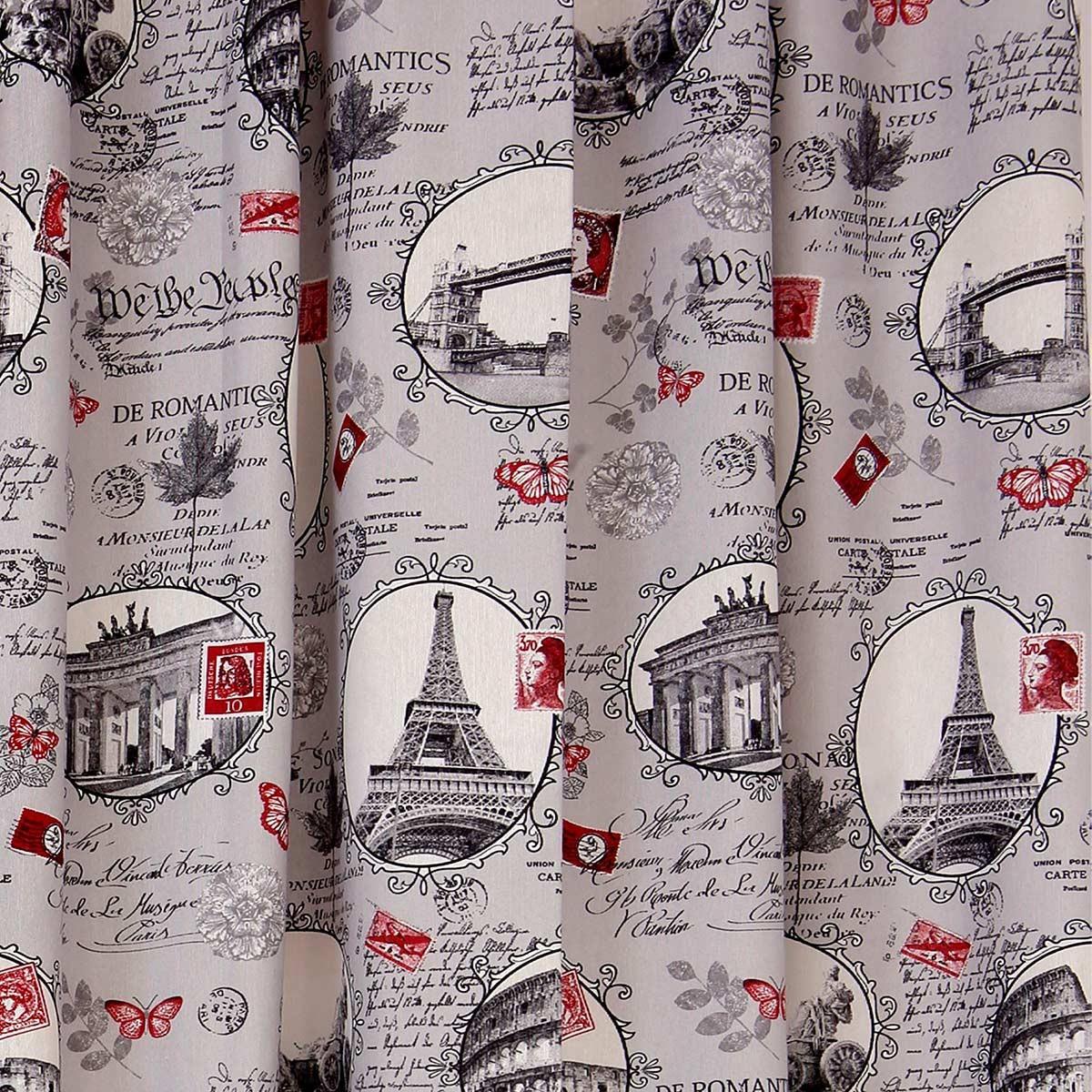 Κουρτίνα (160x270) Με Τρέσα Viopros Curtains Ρομάντικ