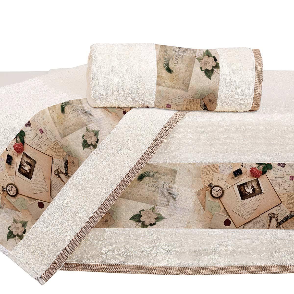 Πετσέτες Μπάνιου (Σετ 3τμχ) Viopros Digital 1309