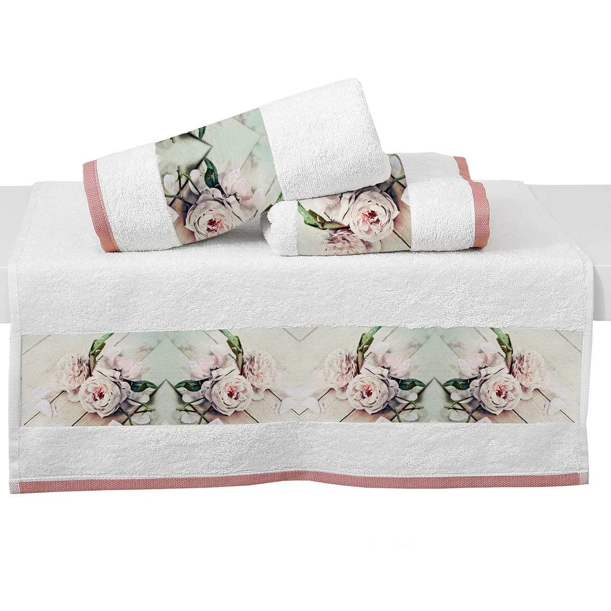 Πετσέτες Μπάνιου (Σετ 2τμχ) Viopros Digital 1311
