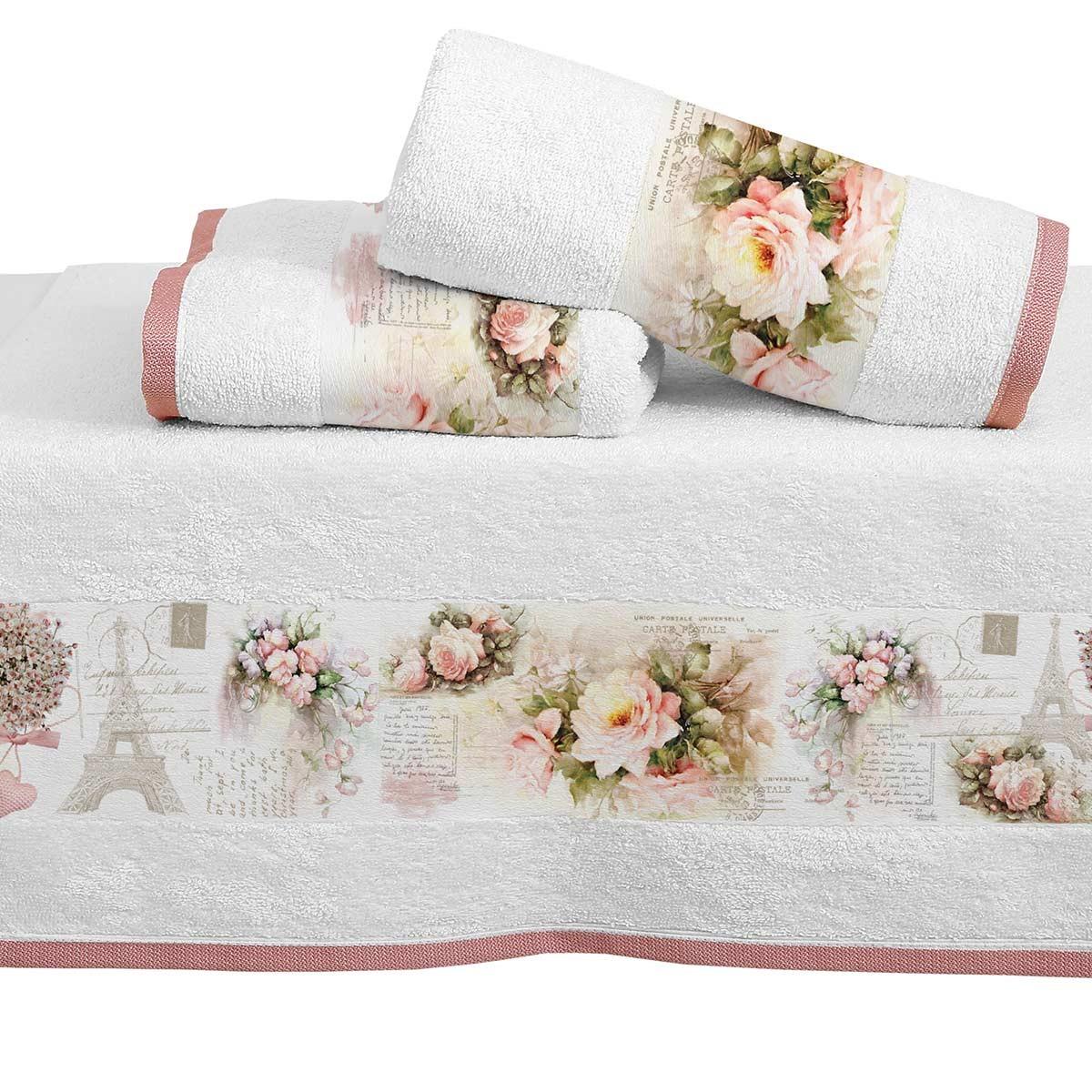 Πετσέτες Μπάνιου (Σετ 3τμχ) Viopros Digital 1310